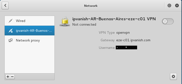Network configuration openvpn