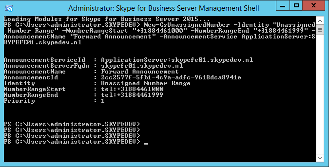 Skype for Business Management Shell