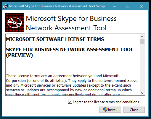 Network Assessment Tool for Skype for Business and Microsoft Teams