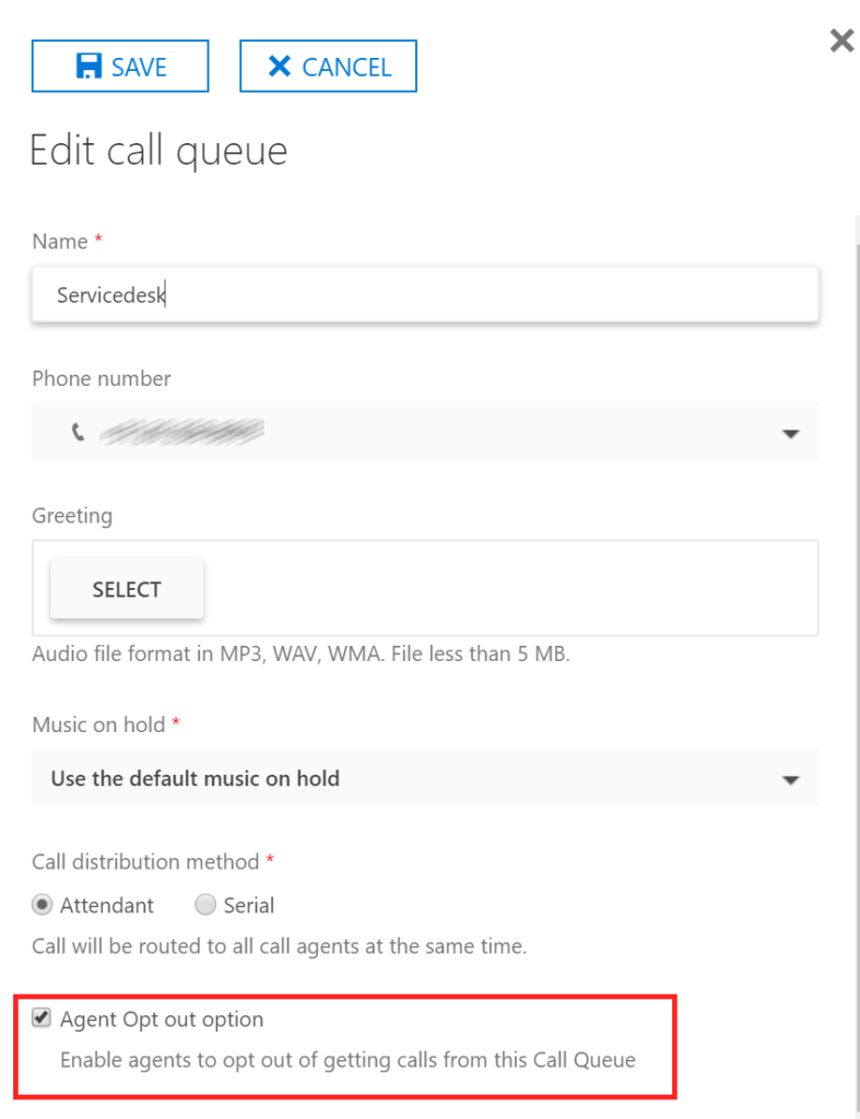 Skype for Business Online Call Queues: Agent Opt In/Out