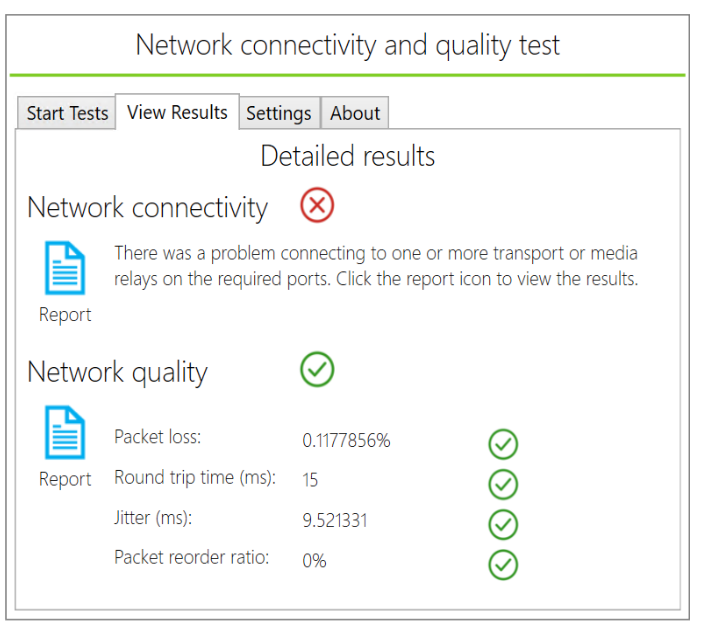 Skype for Business and Microsoft Teams Network Testing-Sharing